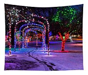 Winter Spirit At Locomotive Park Tapestry