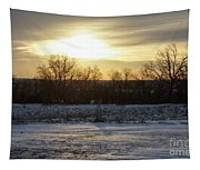 Winter Sunrise Tapestry