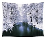 Wintry White Tapestry