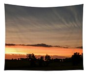 Wispy Clouds At Sunset Tapestry