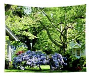 Wisteria On Lawn Tapestry