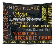 Witchcraft Typography Tapestry