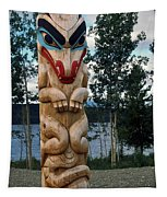 Wolf Clan Totem Pole Tapestry