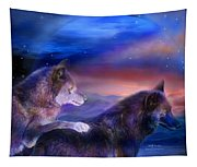 Wolf Mates Tapestry