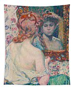 Woman At The Mirror  Tapestry