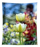 Photographer Behind The Flowers Tapestry