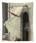 Woman In A Doorway. Rome Tapestry