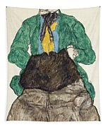 Woman In Green Blouse With Muff Tapestry