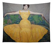 Woman In A Yellow Dress Tapestry