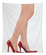 Woman Legs In High Heel Shoes Tapestry