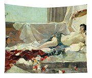 Woman Undressed Tapestry