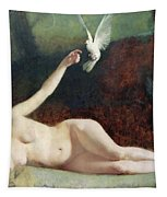 Woman With Pigeons Tapestry by Ernst Philippe Zacharie