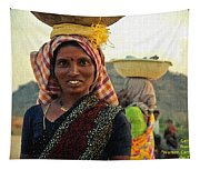 Women Carrying Goods On Their Heads H A Nv Tapestry