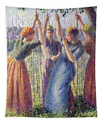 Women Planting Peasticks Tapestry
