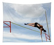 Womens Pole Vault Tapestry