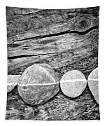 Wood And Stones - Vertical Tapestry