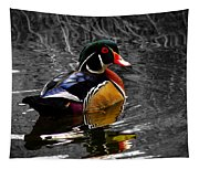 Wood Duck Drake Tapestry