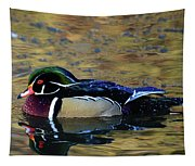 Wood Duck Drake Tapestry