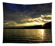Wood Lake Sunburst Tapestry