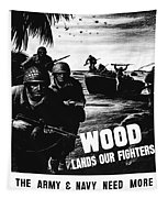 Wood Lands Our Fighters Tapestry