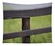 Wood Railing Over The Marsh Tapestry
