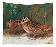 Woodcock In The Undergrowth Tapestry