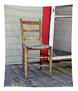 Wooden Chair  Tapestry