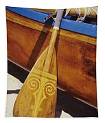 Wooden Paddle And Canoe Tapestry