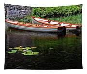 Wooden Rowboats Tapestry