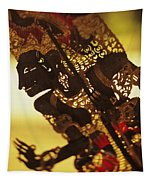 Wooden Shadow Puppets Tapestry