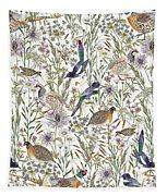 Woodland Edge Birds Tapestry