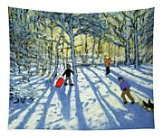Woodland In Winter Tapestry