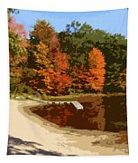 Woodlands On The Lake Tapestry