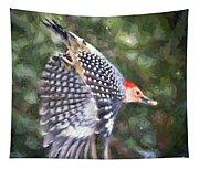 Woodpecker Wings Tapestry
