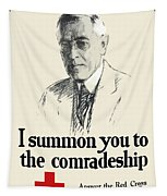 Woodrow Wison Red Cross Roll Call Tapestry by War Is Hell Store
