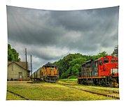 Work Horse Trains 3 Madison Georgia Locomotive Art Tapestry