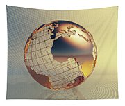 World Global Business Background Tapestry