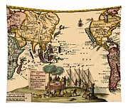 World Map 1707 Tapestry