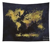 World Map Art 65 Tapestry