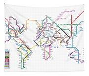 World Metro Map Tapestry