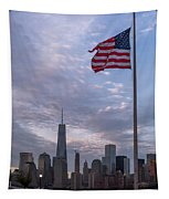 World Trade Center Freedom Tower New York City American Flag Tapestry