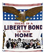 World War I Liberty Bond Ad Tapestry by Granger