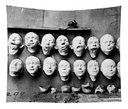 World War I Masks, 1918 - To License For Professional Use Visit Granger.com Tapestry