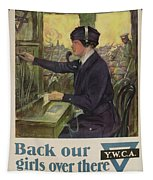World War I Ywca Poster Tapestry