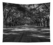 Wormsloe Plantation 2 Live Oak Avenue Art Tapestry