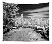 Wrecking Yard In Infrared 3 Tapestry