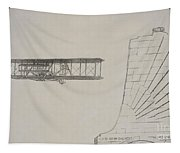 Wright Brothers Memorial Plane Sketch Tapestry