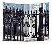 Wrought Iron Cemetery Fence Tapestry