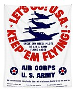 Us Army Air Corps - Ww2 Tapestry by War Is Hell Store
