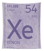 Xenon Xe Element Symbol Periodic Table Series 054 Tapestry